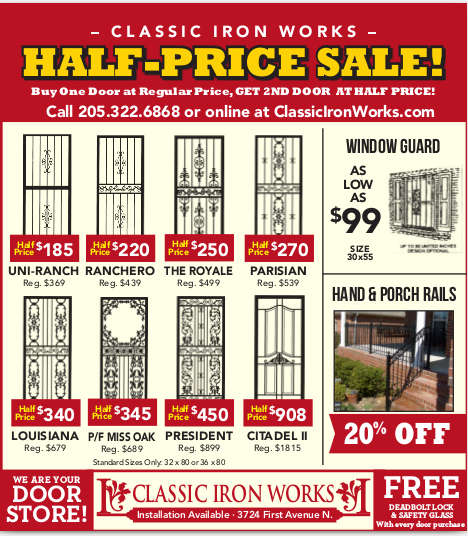 Iron Doors Sales Flyer